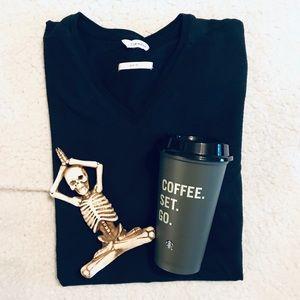 Men's Black Calvin Klein Slim Fit V-Neck T-shirt